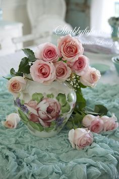 SOLD Beautiful Old HandPainted Glass Vase With Pink Roses