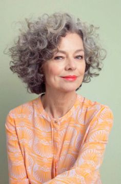 curly grey hair! This will be me when I get older!! Fabulous at ANY AGE!!!
