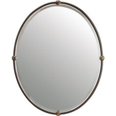 Kichler KK41006OZ Ribbed Glass Oval Mirror - Olde Bronze at Ferguson.com