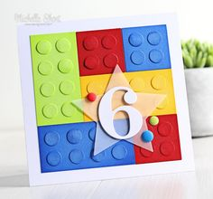 Hello there, today I have a card to share that I made for my nephew for his birt. - Hello there, today I have a card to share that I made for my nephew for his birthday. He absolutely loves Lego so it made sense for me to t… Lego Birthday Cards, Homemade Birthday Cards, Birthday Cards For Boys, Bday Cards, Happy Birthday Cards, Birthday Greeting Cards, Greeting Cards Handmade, Homemade Cards, Birthday Boys
