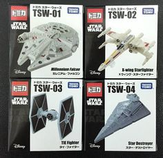 Tomica Star Wars Millennium Falcon X Wing Star Fighter TIE Fighter Star Destroye #TakaraTomy