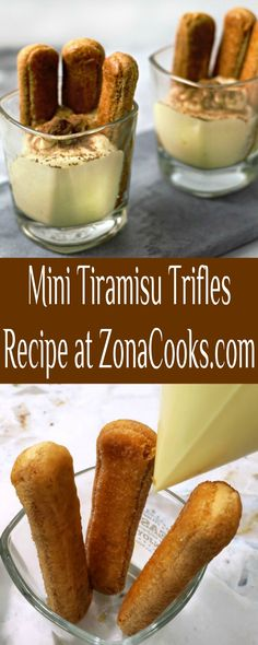These Mini Tiramisu Trifles are a rich treat blending the bold flavors of cocoa and espresso with creamy mascarpone cheese custard mixture and fresh whipped heavy cream, and coffee dipped ladyfinger biscuits. #tiramisu #trifle #MiniTiramisu #DessertForTwo #dessert #ItalianFood #espresso #coffee #mascarpone #ladyfingers Tiramisu Trifle, Dessert For Two, Trifle Recipe, Mascarpone Cheese, Custard, Italian Recipes, Biscuits, Desserts, Dessert Recipes