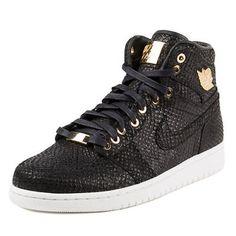 fb0c61160cff NEW Nike Mens Air Jordan 1 Pinnacle Black Metallic Gold-White 705075-030 SZ  10.5