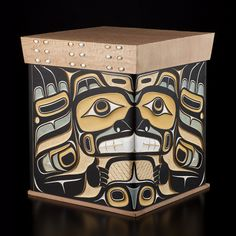 Beaver, Ravens, Chief with Eagle and Frog Bentwood Box Doug Zilkie Haida Nation