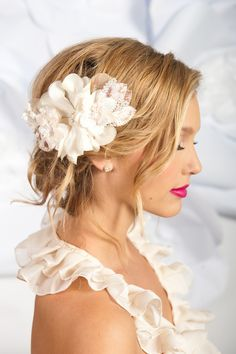 Image of Champagne flower headpiece - Ada