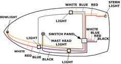 boat wiring diagram boat pinterest diagram boating. Black Bedroom Furniture Sets. Home Design Ideas