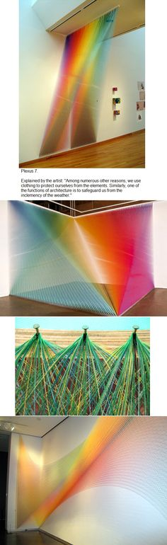Gabriel Dawe instalations. The world of threads and colors of the artist.