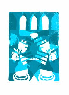 Blue On Blue On Blue by Rose Electra Harris || Print Club London