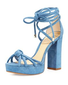 Janelle+Knotted+Suede+110mm+Sandal+by+Alexandre+Birman+at+Bergdorf+Goodman.