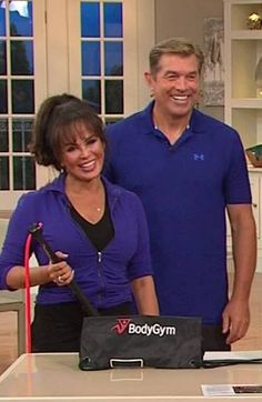Marie Osmond and Steve Craig at QVC with the BodyGym