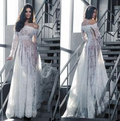 Pakistani Wedding Dresses Alluring Sexy Sheer Lace Wedding Dresses Long Sleeves 2016 Beach Bridal Gowns Vintage Bohemian Style Arabic Formal Party Evening Dress Beach Wedding Dresses From Marrysa, $146.08| Dhgate.Com