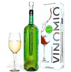 Vinomio Stainless Steel Wine Bottle Chiller Cooler Stick With Aerator And Pourer, 2015 Amazon Top Rated Wine Chillers #Kitchen