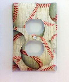 Baseball Light Switch Cover Bedroom Bathroom Nursery Decor