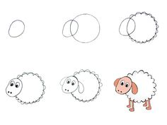 Desenhos Fáceis De Desenhar – Passo a Passo - Mamãe Tagarela Shop Plans, Travel Maps, Shop Logo, Graphic Organizers, Drawing For Kids, Craft Fairs, Sheep, Doodles, Entertaining