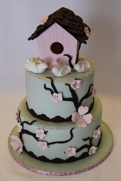 Birdhouse Housewarming Cake By julzyfruits on CakeCentral.com #cake #food
