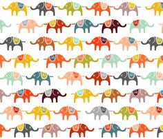 This fabric is so cute, I just want to buy a yard and save it till we have another kid and design a nursery around it.