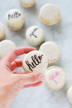 Typography Macarons ...beginners guide to macaroons