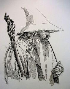 Gandalf by on DeviantArt - drawings - Gandalf Tattoo, Lotr Tattoo, Tolkien Tattoo, Legolas, Pencil Art Drawings, Cute Drawings, Drawing Sketches, Tattoo Sketches, Jrr Tolkien