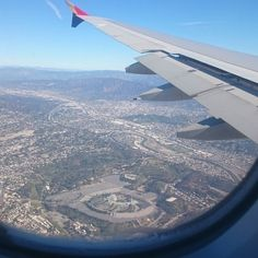 THINK BLUE: Chavez Ravine aka Dodger Stadium from an Asiana A380 by magnum702