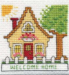 "Bucilla ® Counted Cross Stitch - Beginner Stitchery - Mini - Home    Size: 2"" x 2"""