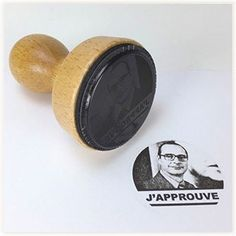 """Tampon Jacques Chirac """"J'approuve"""" #chirac #tampon #vintage"""