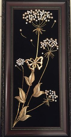 Dandelion recycled jewelry art by Leslee