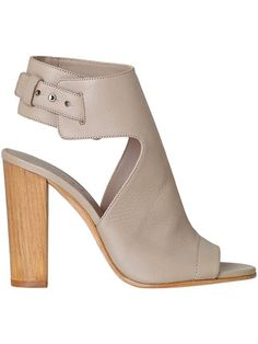 The Addie heel by Vince in Taupe. Love the open toe and wood heel for spring and summer!