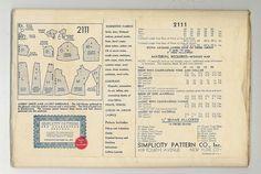 1930s Simplicity 2111