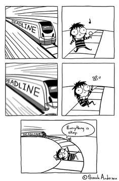 Sarah's Scribbles :: Deadline | Tapastic Comics - image 1