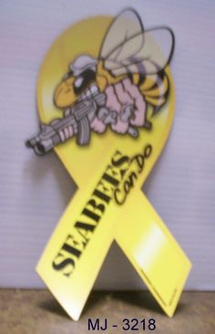 US Navy - Seabees - Can Do Magnetic Ribbon with Bee