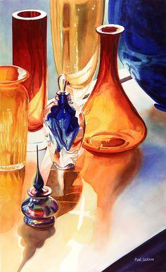 """""""Lichtechte"""" Art Glass Waterverf door Paul Jackson"""