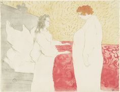 WORK 31 (PRINT COLLECTION) Henri de Toulouse-Lautrec, Woman in Bed, in profile - getting up  (Femme au Lit, Profil - au petit lever), colour lithograph, 1896. All images © Whitworth Art Gallery, The University of Manchester.
