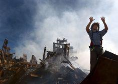 """#  MANHATTAN  # """"World Trade Center"""" após 'Ataques de 11 de Setembro de 2001'.                       New York City, USA."""