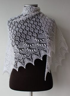 Free Knitting Pattern for Crescent Swallowtail Shawl