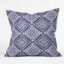 Holli Zollinger Shakami Denim Throw Pillow