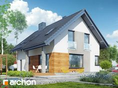 Projekt domu Dom w żurawkach (A) - ARCHON+ Exterior, Outdoor Decor, Modern, House, Home Decor, Trendy Tree, Decoration Home, Home, Room Decor