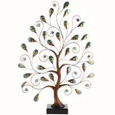Handcrafted Peacock Tree