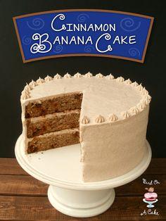 Cinnamon Banana Cake with Cinnamon Cream Cheese Frosting {Bird On A Cake}