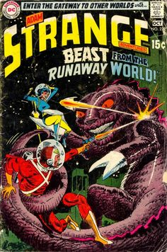 Adam Strange Adventures. Issue 220. Oct 1969. Cover art by Joe Kubert. DC Comics.