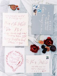 Red and blue winter wedding inspiration | Photo by GenelLynne Rivera | Read more -  http://www.100layercake.com/blog/?p=81248