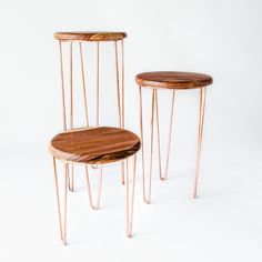 CALI BEISTELLTISCH - KUPFER at NØA   GINGER Cali, Stool, Dining Chairs, Mexico, Furniture, Home Decor, Collection, Ornamental Plants, Contemporary Design