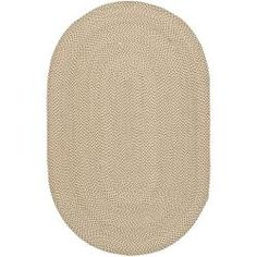 Hand-woven Reversible Beige/ Brown Braided Rug (8' x 10' Oval) $234