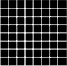 Black dots appear and disappear. What?