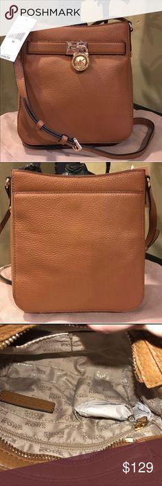 NWT Michael Kors Crossbody Gorgeous brand new Pebbled Leather MK Hamilton Crossbody in Acorn. Michael Kors Bags Crossbody Bags