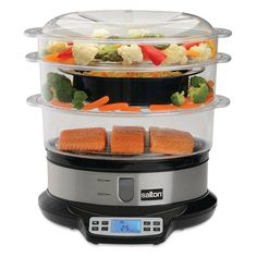 One-pot meals just got easier thanks to the Salton Programmable Steamer and Rice Cooker . This rice cooker offers an ample nine-liter capacity with one,. How To Cook Rice, What To Cook, Clean Recipes, Healthy Recipes, Healthy Food, Kitchen Essentials List, Steamer Recipes, Rabbit Food, Home