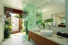 Love the indoor/outdoor shower
