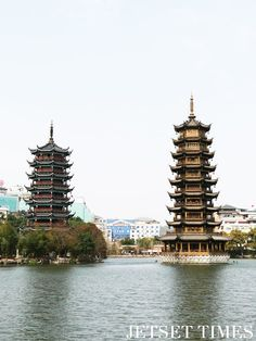 Sun & Moon Temples, Guilin, China.  #china #chinatravel #travelphotography #asia #asiatravel #traveldestinations