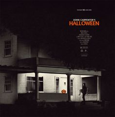 HALLOWEEN  To coincide with the release of the Halloween Soundtrack Vinyls, two posters were also released. This one features Michael carrying the lifeless body of Annie up the steps into the Brackett house.