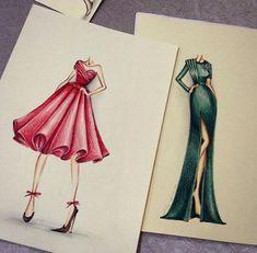 37 Ideas Fashion Design Sketches Dresses Chic For 2019 - Dress design sketches - Dress Design Sketches, Fashion Design Sketchbook, Fashion Design Drawings, Fashion Sketches, Fashion Design Illustrations, Dress Designs, Dress Illustration, Fashion Illustration Dresses, Arte Fashion