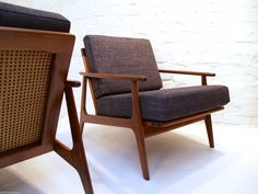Pair OF Parker Blackwood Rattan Back Lounge Chairs Sydney 1961 Vintage Retro Retro Home, Lounge Chairs, Rattan, Sydney, Retro Vintage, Accent Chairs, Home And Garden, Furniture, Ebay